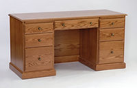 Configure-Your-Own Desk   Oak in Fruitwood OCS102   60in W x 24in D x 30 1/2in H   The Amish Home   Amish Furniture at the Pittsburgh Mills