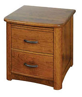 Meridian 2 Drawer Nightstand|Rustic Cherry in Seely OCS104|22in W x 20 5/8in D x 26in H|The Amish Home|Amish Furniture at the Pittsburgh Mills