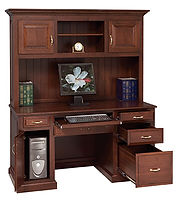Traditional Computer Desk|Cherry in Boston OCS111|60 1/2in W x 24in D x 70in H|The Amish Home|Amish Furniture at the Pittsburgh Mills