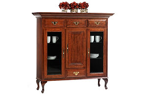 Queen Victoria Dutch Pantry|Cherry in Acres OCS106|56in W x 18 /2in D x 55in H|The Amish Home|Amish Furniture at the Pittsburgh Mills