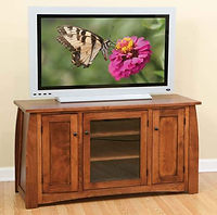 Sonoma TV Stand|Brown Maple in Coffee OCS226|56in W x 20in D x 30in H|The Amish Home|Hardwood Furniture at the Pittsburgh Mills