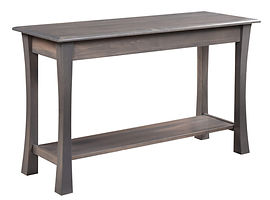 Bellville Sofa Table|Brown Maple in Antique Slate OCS118|48in W x 20in D x 29in H|The Amish Home|Amish Furniture at the Pittsburgh Mills