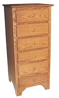 Jonas's Shaker Lingerie Chest Oak in Seely OCS104 22in W x 19in D x 48in H The Amish Home Amish Furniture at the Pittsburgh Mills