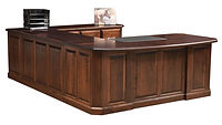 Fifth Avenue U-Desk | Brown Maple in Rich Tobacco OCS228 | 78in W x 85in D x 30in H | The Amish Home | Amish Furniture at the Pittsburgh Mills