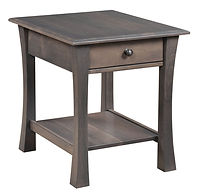 Bellville End Table | Brown Maple in Antique Slate OCS118 | 22in W x 26in D x 25in H | The Amish Home | Amish Furniture at the Pittsburgh Mills