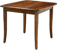 American furniture dining table with extra leaf heavy duty dining room furniture Amish furniture Pittsburgh Mills