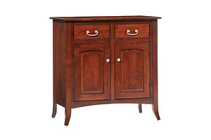 English Shaker 2 Door Buffet|Rustic Cherry in Michaels OCS113|36in W x 20in D x 36 3/4in H|The Amish Home|Amish Furniture at the Pittsburgh Mills