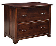 Cherry Valley Lateral File Cabinet | Rustic Cherry in Michaels OCS113 | 39in W x 24in D x 30in H | The Amish Home | Amish Furniture at the Pittsburgh Mills