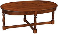 Biltmore Oval Coffee Table | Rustic Cherry in Michaels OCS113 | 50in W x 32in D x 20in H | The Amish Home | Amish Furniture at the Pittsburgh Mills