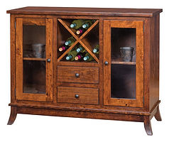 Covington Wine Cabinet|Rustic Cherry in Asbury OCS117|48in W x 18 1/2in D x 38in H|The Amish Home|Amish Furniture at the Pittsburgh Mills