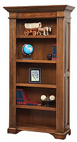 Lincoln Bookcase|Brown Maple in Boston OCS111|42in W x 15 1/2in D x 79 1/2in H|The Amish Home|Amish Furniture at the Pittsburgh Mills