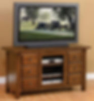 Butler TV Stand|Oak in Asbury OCS117|56in W x 20in D x 30in H|The Amish Home|Hardwood Furniture at the Pittsburgh Mills
