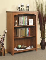 Heirwood Economy Bookcase | Oak in S-14 OCS108 | Many Sizes Available | The Amish Home | Amish Furniture at the Pittsburgh Mills
