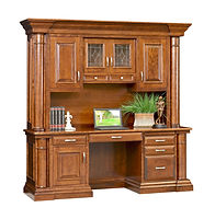 Paris Credenza with optional hutch | Cherry in Chocolate Spice FC-9090 | 82 1/2in W x 23 3/4in D x 82 1/2in H | The Amish Home | Amish Furniture at the Pittsburgh Mills