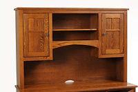 Prairie Mission Short Door Hutch for Prairie Mission Desks or Lateral File Credenza | Oak in Fruitwood OCS104 | 60in W x 13 1/2in D x 40 1/4in H | The Amish Home | Amish Furniture at the Pittsburgh Mills