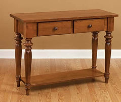 London Sofa Table|Cherry in S-14 OCS108|42in W x 16in D x 30in H|The Amish Home|Hardwood Furniture at the Pittsburgh Mills