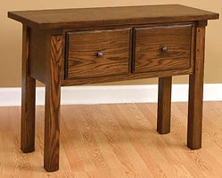 Butler Sofa Table|Oak in Asbury OCS117|42in W x 16in D x 30in H|The Amish Home|Hardwood Furniture at the Pittsburgh Mills