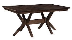 "Burdock Trestle Table | Shown with 3"" radius corner top, roundover edge. Butterfly leaf available. 