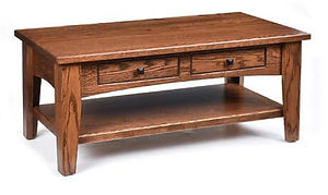 Ashford Coffee Table|Oak in Medium OCS110|42in W x 22in D x 17 1/2in H|The Amish Home|Amish Furniture at the Pittsburgh Mills
