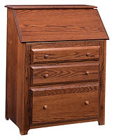 Junior's Drop Front Desk | Oak in Michaels OCS113 | 32in W x 18 1/2in D x 43in H | The Amish Home | Amish Furniture at the Pittsburgh Mills