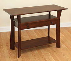 Westfield Sofa Table|Brown Maple in Coffee OCS226|42in W x 18in D x 30in H|The Amish Home|Hardwood Furniture at the Pittsburgh Mills
