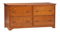 Prairie Mission Lateral File Credenza | Oak in Michaels OCS113 | 60in W x 24in D x 30 3/4in H | The Amish Home | Amish Furniture at the Pittsburgh Mills