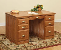 David's 50in Traditional Flat Top Desk | Oak in Fruitwood OCS102 | 50in W x 30in D x 30in H | The Amish Home | Amish Furniture at the Pittsburgh Mills