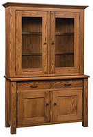 Teton 2 Door Hutch Oak in Michaels OCS113 58in W x 20 1/4in D x 84in H The Amish Home Amish Furniture at the Pittsburgh Mills