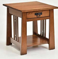 Aspen End Table | Rustic Cherry in Michaels OCS113 | 22in W x 24in D x 24in H | The Amish Home | Amish Furniture at the Pittsburgh Mills