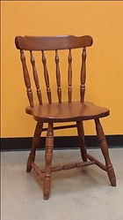 Hugo Chair with wood seat Floor Model Special Oak with OCS107 Washington Stain