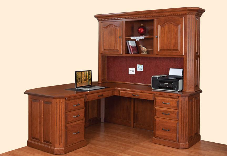 Fifth Avenue L-Desk with Hutch