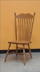Hoosier Side Chair with wood seat Floor Model Special Oak with MX Stain