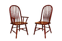 Deluxe Bent Feather Bow Back Dining Chair|Cherry in Washington OCS107 | Shown with Wood Seat.|The Amish Home|Amish Furniture at the Pittsburgh Mills
