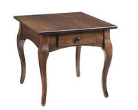 French Country End Table|Rustic Cherry in Asbury OCS117|22in W x 24in D x 24in H|The Amish Home|Amish Furniture at the Pittsburgh Mills