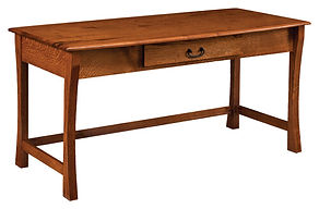 Master Writing Desk   Rustic Quartersawn White Oak in Michaels OCS113   60in W x 30in D x 30in H   The Amish Home   Amish Furniture at the Pittsburgh Mills