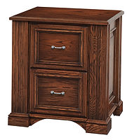 Lincoln File Cabinet with 2 Drawers|Brown Maple in Boston OCS111|28 1/2in W x 24in D x 30 1/2in H|The Amish Home|Amish Furniture at the Pittsburgh Mills