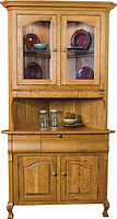 Arlington Corner Hutch|Rustic Cherry in Seely OCS104|42in W x 20 3/4in D x 83 3/4in H, 31 1/4in wall space|The Amish Home|Amish Furniture at the Pittsburgh Mills