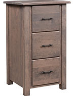 Barn Floor 3 Drawer File Cabinet Rustic Cherry in Cappuccino OCS119 25 1/4in W x 24in D x 45in H The Amish Home Amish Furniture at the Pittsburgh Mills