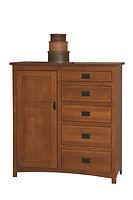 Michael's Mission Man's Chest|Quartersawn White Oak in Michaels OCS113|48in W x 19 3/4in D x 51 1/2in H|The Amish Home|Amish Furniture at the Pittsburgh Mills