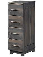 Urban Four-drawer File Cabinet | Four drawers | Brown Maple in Antique Slate OCS118 | 19 1/2in W x 24in D x 55 1/2in H | The Amish Home | Amish Furniture at the Pittsburgh Mills
