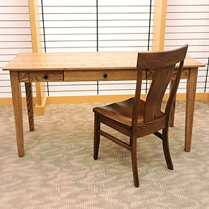 Cortland Writing Desk In Stock - Oak in Provincial stain