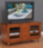 Lodi TV Stand|Brown Maple in Michaels OCS113|56in W x 20in D x 30in H|The Amish Home|Hardwood Furniture at the Pittsburgh Mills