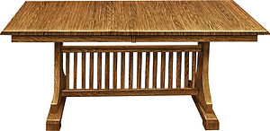 American furniture oak table with self storing leaves heavy duty kitchen table Amish furniture Pittsburgh Mills