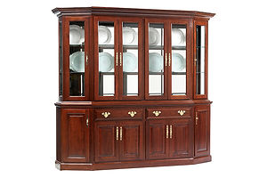 Queen Victoria 89in Canted Hutch|Cherry in Acres OCS106|89in W x 21in D x 81in H|The Amish Home|Amish Furniture at the Pittsburgh Mills Amish dining solutions