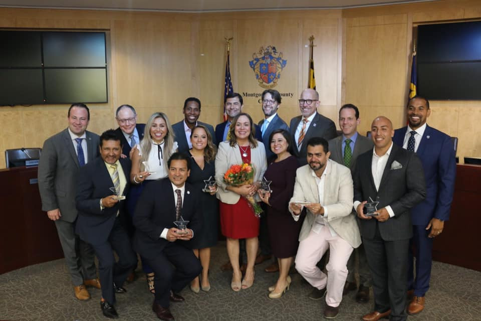 Attorney Morales was honored by the Montgomery County Maryland Council's Hispanic Heritage Celebration.