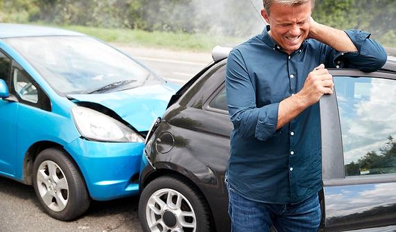 Mature Male Motorist With Whiplash Injur