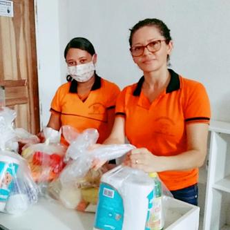 Mais 10 cestas foram doadas nesta quinta (16) em Raposa para famílias assistidas