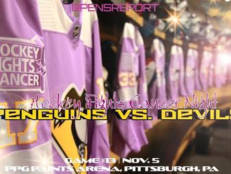 Pens Pre-Game #13: Penguins vs. Devils- Pens Must Catch The Devils, Stop 3-Game Skid