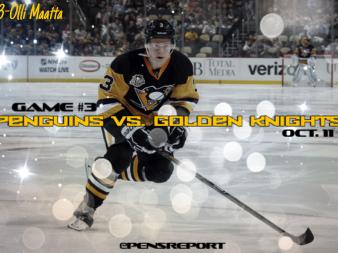Pens Pre-Game #3: Penguins vs. Golden Knights- No Murray, No Fleury