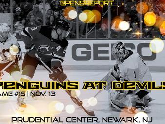 Pens Pre-Game #16: Penguins at Devils- Save Us Sidney Crosby!